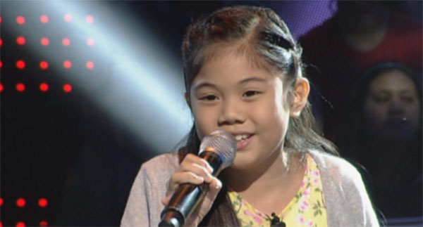 Gella Vergara the voie kids ph sing off