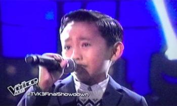 Watch: Joshua Oliveros sings 'Mangarap Ka' on The Voice Kids Philippines Live Finals