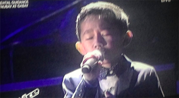 Joshua Oliveros the voice kids ph semifinals