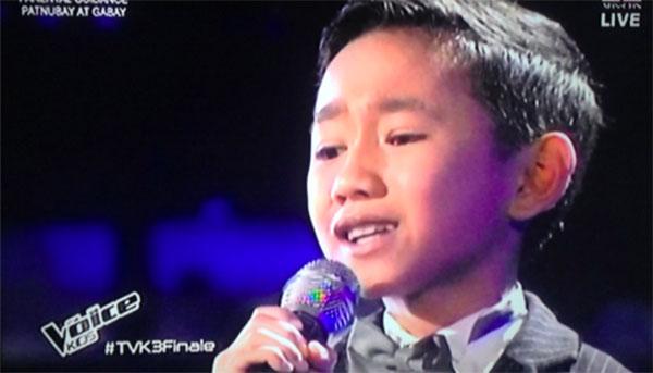 Joshua Oliveros the voice kids philippines live finals salamat