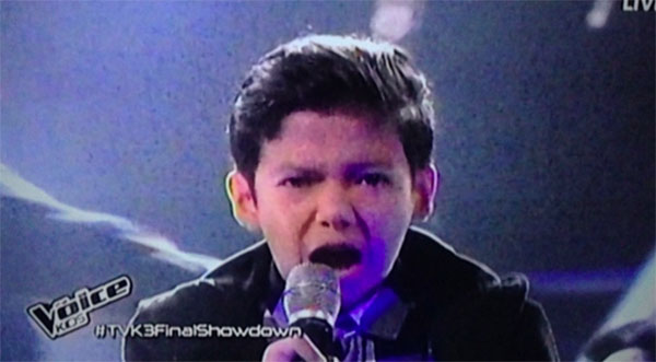Justin Alva sings The Monster the voice kids philippines finals
