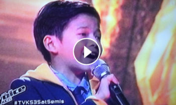 Watch: Justin Alva sings 'Open Arms' on The Voice Kids Philippines Live Semifinals