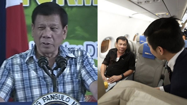 President Duterte comfortable with commercial flights