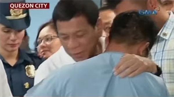 President Duterte emotional teary-eyed blind soldier