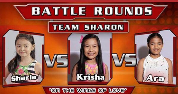 Sharla vs Krisha vs Ara the voice kids ph