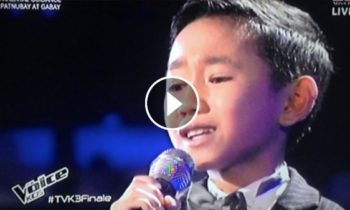 Watch: Joshua Oliveros sings 'Salamat' on The Voice Kids Philippines Live Finals