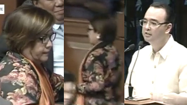 Image result for cayetano privilege speech delima walked out