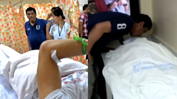 President Duterte visits the victims of Davao City bombing video