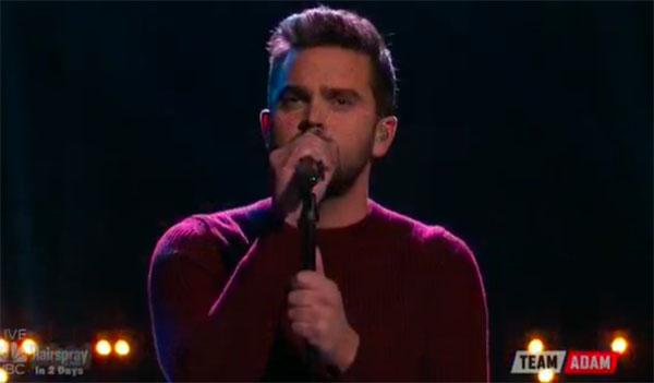 Brendan Fletcher sings 'Angel' on The Voice Top 8 Semifinals
