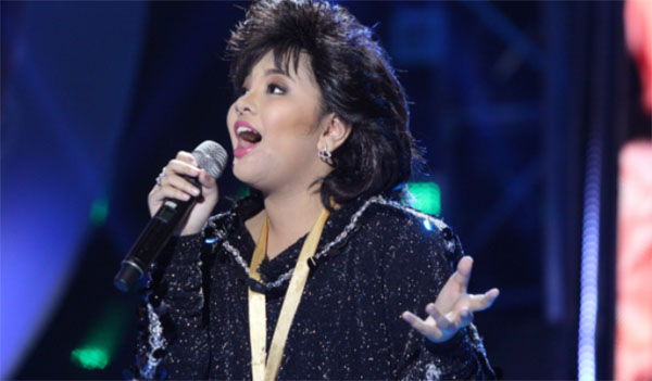 Elha Nympha sings 'Bituing Walang Ningning' as Sharon Cuneta on Your Face Sounds Familiar Kids Sunday, January 15, 2017