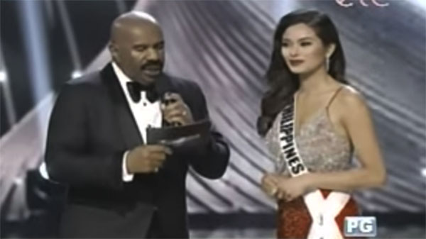 Maxine Medina used an interpreter but answered in English during Miss Universe Q & A Portion