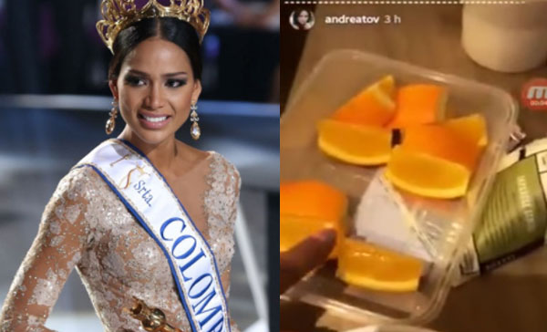Miss Colombia Andrea Tovar insult 'Gifts' she received from her hotel in the Philippines