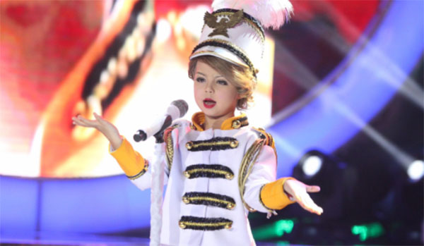 Xia Vigor impersonates Taylor Swift 'You Belong With Me' on Your Face Sounds Familiar Kids Sunday, January 15, 2017