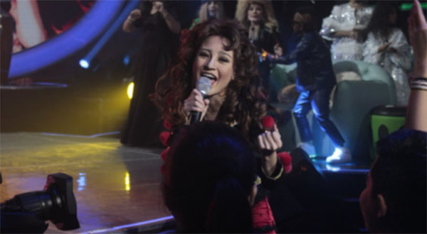 AC Bonifacio as Gloria Estefan, sings 'Get On Your Feet' on Your Face Sounds Familiar Kids
