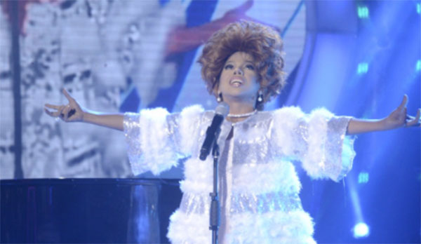 Awra Briguela as Shirley Bassey, sings 'I Am What I Am' on Your Face Sounds Familiar Kids