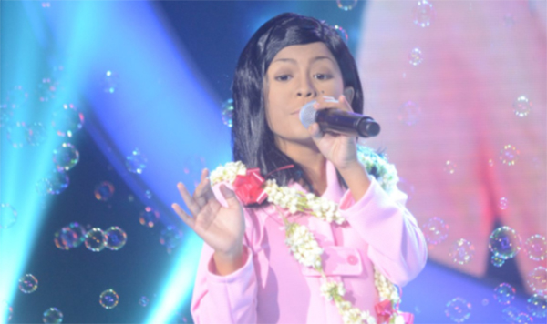 Lyca Gairanod impersonates Nora Aunor on Your Face Sounds Familiar Kids