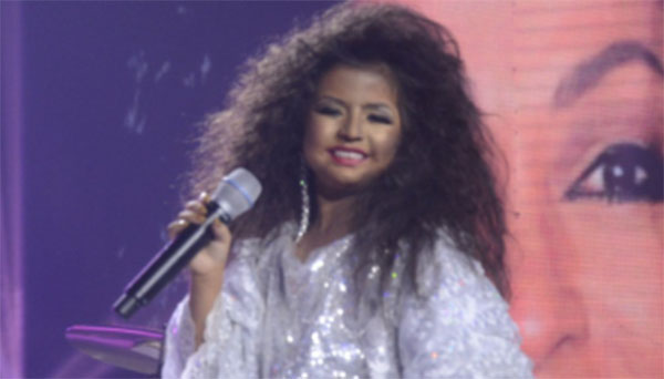 Xia Vigor impersonates Diana Ross on Your Face Sounds Familiar Kids
