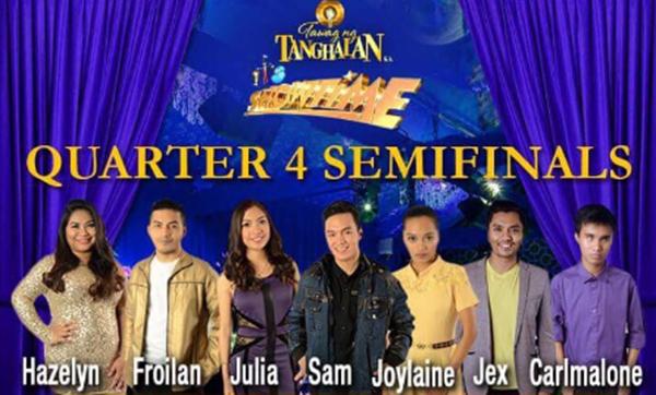 Tawag Ng Tanghalan Semifinals Quarter 4 Results and Winner February 25, 2016.