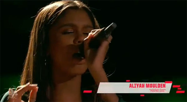 Aliyah Moulden sings 'Hound Dog' on The Voice 2017 Blind Auditions February 28 2017