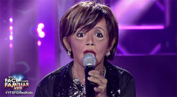 Awra Briguela as Elizabeth Ramsey on Your Face Sounds Familiar Kids