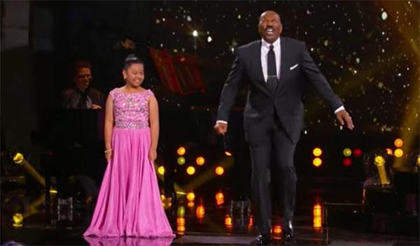 Elha Nympha sings 'Chandelier' on Steve Harvey's Little Big Shots