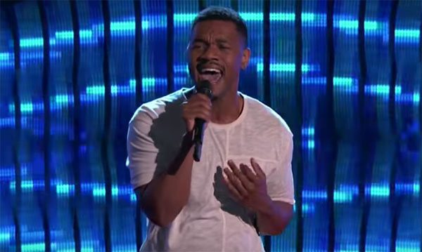 Kawan DeBose sings 'Let's Get It On' on The Voice 2017 Blind Auditions
