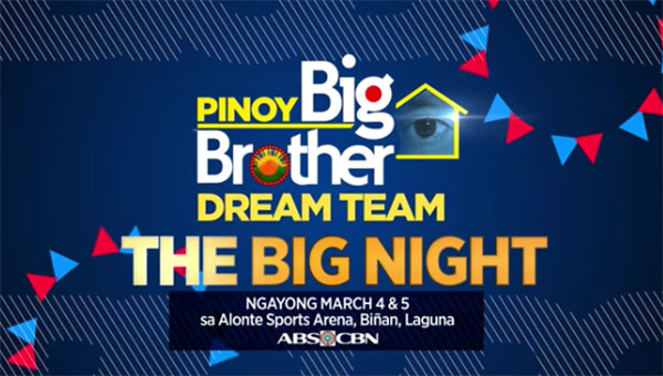 Pinoy Big Brother Big Night PBB Lucky 7 Dream Team Results Winners Revealed March 4 5 2017