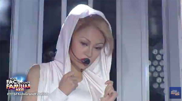 AC Bonifacio as Kylie Minogue on Your Face Sounds Familiar Kids