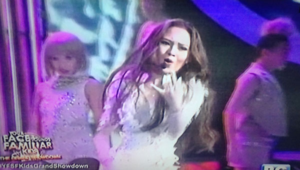 AC Bonifacio as Sarah Geronimo on Your Face Sounds Familiar Kids Grand Final Showdown