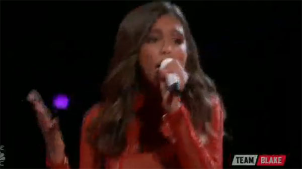 Aliyah Moulden sings 'Love Is Like A Heat Wave' on The Voice Top 12 Live Shows
