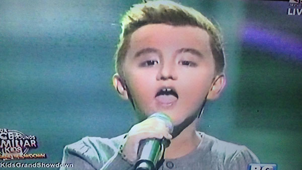 Alonzo Muhlach as Ricky Martin on Your Face Sounds Familiar Kids Grand Final Showdown