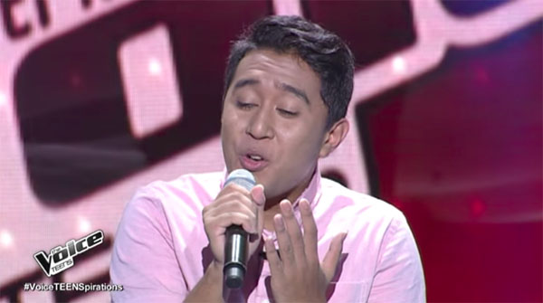 Brandon Ungab sings 'Back At One' on The Voice Teens Philippines Blind Auditions