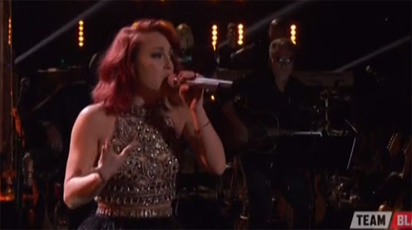 Casi Joy sings 'Parachute' on The Voice Live Playoffs