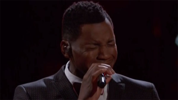 Chris Blue sings 'Love on the Brain' on The Voice Live Playoffs