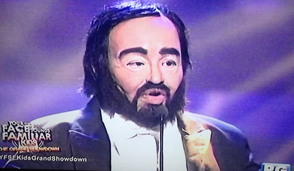 Elha Nympha as Luciano Pavarotti on Your Face Sounds Familiar Kids Grand Final Showdown