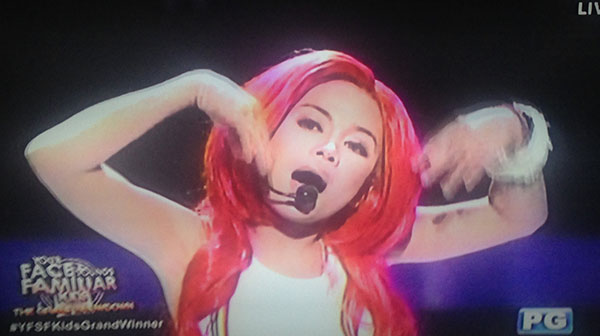 Lyca Gairanod as Yeng Constantino on Your Face Sounds Familiar Kids Grand Final Showdown