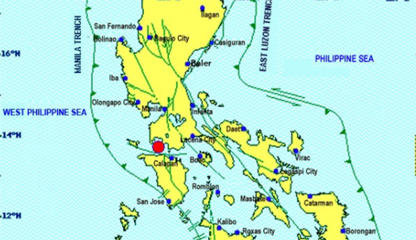 Magnitude 5.4 earthquake shakes Luzon, epicenter hits Batangas Thursday, March 4, 2017.