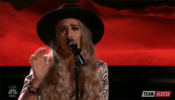 Stephanie Rice sings 'White Flag' on The Voice Top 12 Live Shows