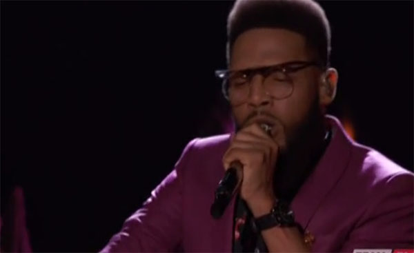 T Soul sings 'Knock on Wood' on The Voice Live Playoffs