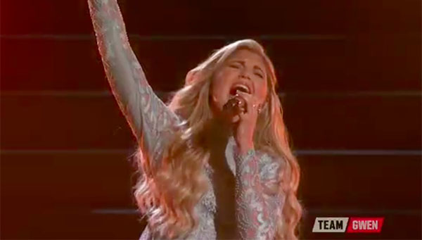 Brennley Brown sings 'Anyway' on The Voice 2017 Top 10 Live Shows
