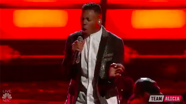Chris Blue sings 'Rhythm Nation' on The Voice 2017 Finale