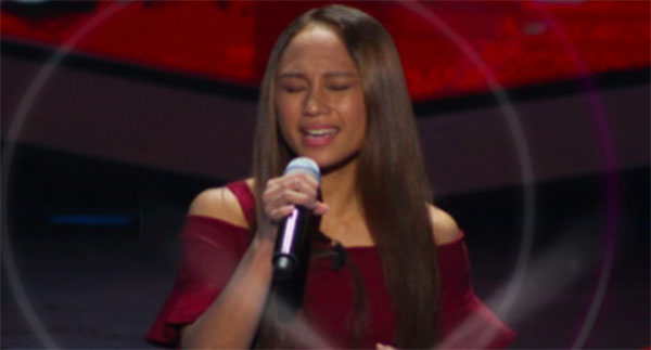 Fritzy Eluna sings 'Almost Is Never Enough' on The Voice Teens Philippines Blind Auditions