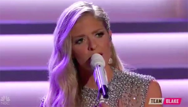 Lauren Duski sings 'The Dance' on The Voice 2017 Finale