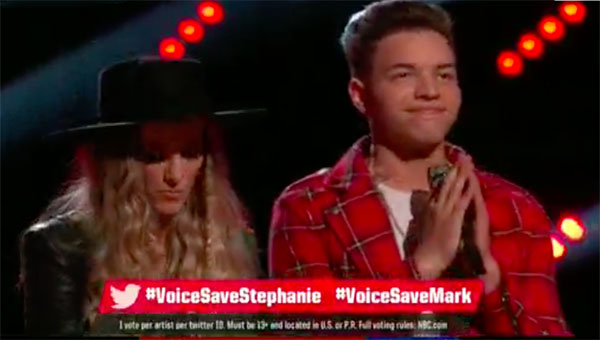 Stephanie Rice is eliminated from The Voice Season 12, Mark Isaiah moves to The Voice 2017 Top 10