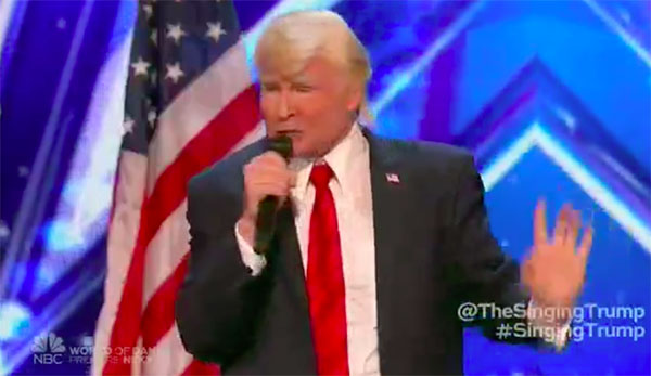 The Singing Trump Wows on America's Got Talent 2017 Premiere