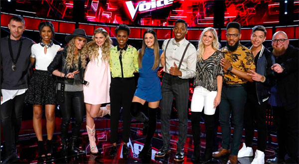 The Voice iTunes Charts and Rankings for Season 12 Top 11