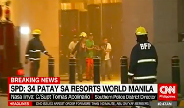 34 people are confirmed dead at the Resorts World Manila incident on Friday, June 2, 2017.