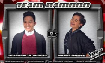 Watch: Andrea vs Emarjhun 'Hallelujah' The Voice Teens Philippines Battles