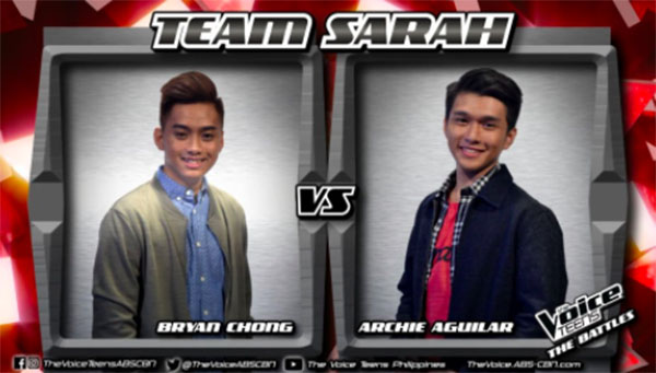 Archie vs Bryan 'Heaven Knows' The Voice Teens Philippines Battles