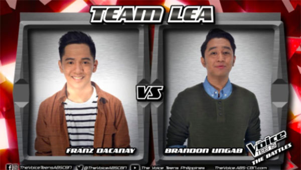 Brandon vs Franz 'Hiling' The Voice Teens Philippines Battles
